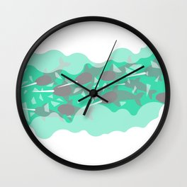 Narwhal - Winter Arctic Wall Clock