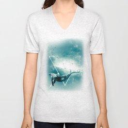 The Whale - Blu Unisex V-Neck