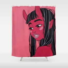 Demon Girl Shower Curtain