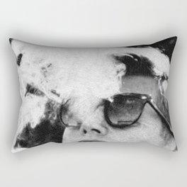 JFK Cigar and Sunglasses Cool President Photo Photo paper poster Rectangular Pillow