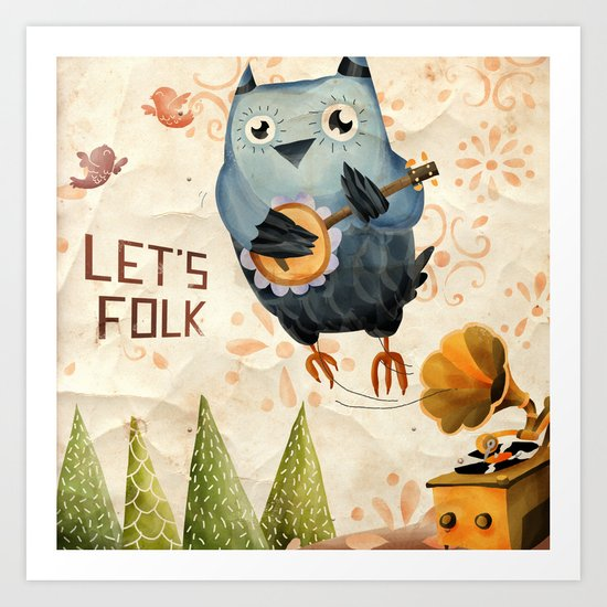 Let's Folk! Art Print