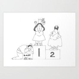 One, Two, Last Art Print