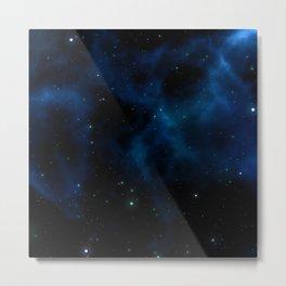 Blue galaxy background Metal Print