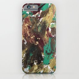 Golden strokes iPhone Case