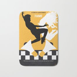 No619 My Fame minimal movie poster Bath Mat