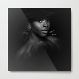 Normani Kordei 'Reflection' Digital Painting Metal Print