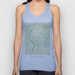 Albuquerque Map Blue Vintage Unisex Tank Top