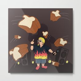 The Bread Massacre Metal Print