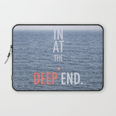 Str8 in at the deep end. Laptop Sleeve