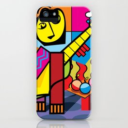 The musician and fruits iPhone Case