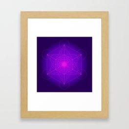 Metatron   Cube   Secret Geometry   Platonic   Matrix   Protects children Framed Art Print