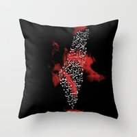 palestine Throw Pillows featuring Peace - Palestine by 7arakat