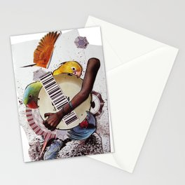 Birds of a feather | Collage Stationery Cards