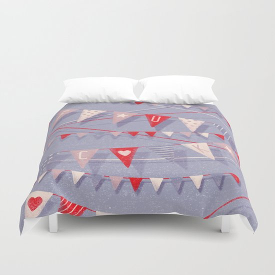 Hate card Duvet Cover