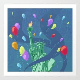 Life, Liberty, and Balloons Art Print