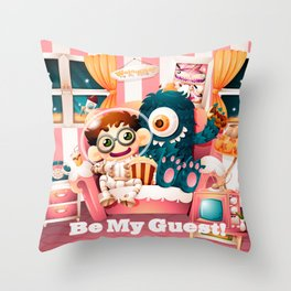 Be My Guest! Throw Pillow