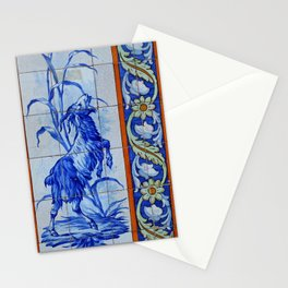 Goat Vintage Mosaic Tiles Stationery Cards