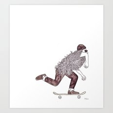skatebearding (regular) Art Print