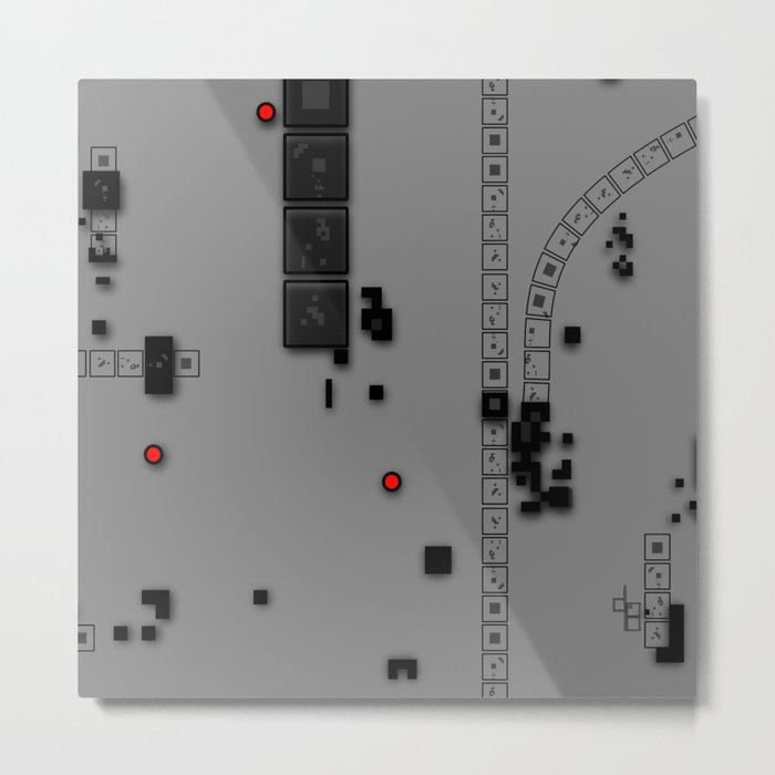 Digital DNA Metal Print