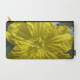 beauty in the mundane - ants and the luffa flowers Carry-All Pouch