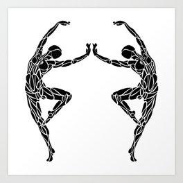 Ballet Pose Stencil # Dance_Ink Art Print