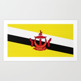 Brunei Flag (Canvas Look) Art Print