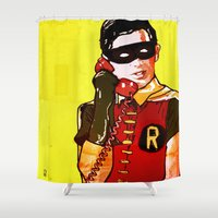 robin Shower Curtains featuring Robin by Ed Pires