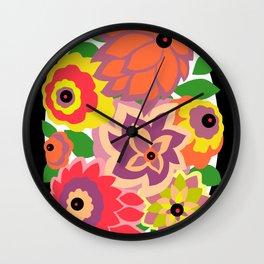 CAMBRIA, ART DECO FLORALS: TROPICANA Wall Clock
