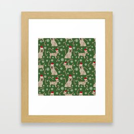 Cairn Terrier dog breed christmas snowflakes candy canes winter holiday pet gifts Framed Art Print