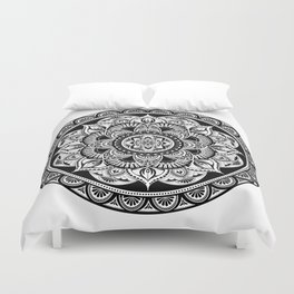 Black Mandala Duvet Cover