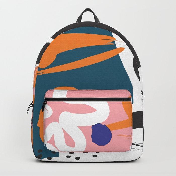Nature #Pink #Black Backpack