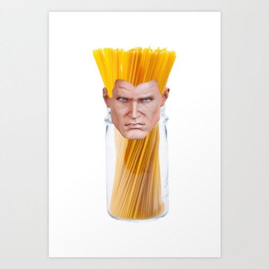 Guile Spaghetti Art Print