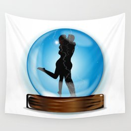 Love In The Crystal Ball Wall Tapestry
