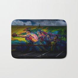 Street Art (Wynwood, Miami) Boxing Mural Bath Mat