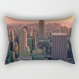 New York City Skyline Rectangular Pillow