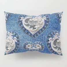 Flowers On Hearts Pillow Sham