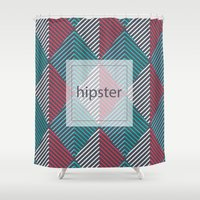 hipster Shower Curtains featuring Hipster by eARTh