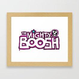 Mighty Boosh Logo, Colourful, Funky, Funny Framed Art Print