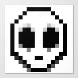 8-Bit Alien Canvas Print