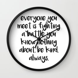 SKAM - Everyone you meet is fighting a battle you know nothing about Wall Clock