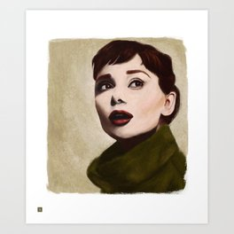 Hepbourn Art Print