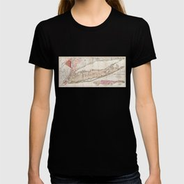Long Island New York 1842 Mather Map T-shirt