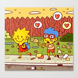 Everything's coming up Milhouse! Canvas Print