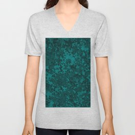 Teal Green Hybrid Camo Pattern Unisex V-Neck