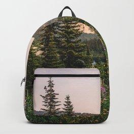 Mount Rainier Wildflower Adventure VII - Pacific Northwest Mountain Forest Wanderlust Backpack