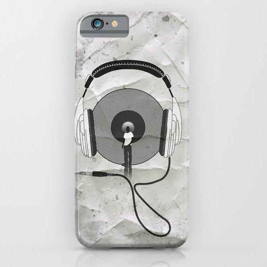vinyl afro iPhone & iPod Case