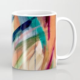 Brave: A colorful and energetic mixed media piece Coffee Mug