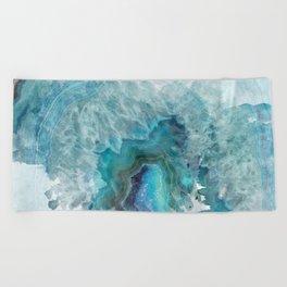 Blue Aqua Agate Beach Towel