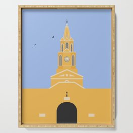 Cartagena, Colombia | Ciudad Amurallada - Walled City Clock Tower Gate Entrance Serving Tray