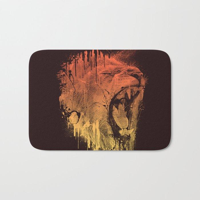 FIERCE LION Bath Mat